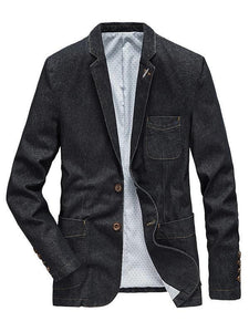 Men's Denim Causal Jakcet Blazer