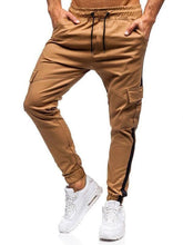 Load image into Gallery viewer, 3 Colors Side Striped Pockets Men's Leisure Pants