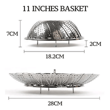 Load image into Gallery viewer, Stainless Steel Retractable Steamer Basket