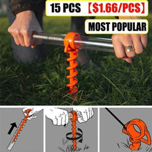 Load image into Gallery viewer, ¡¾HOT SALE ¡¿Today only $2.99 !!!! Orange Screw Ground Anchors