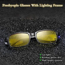 Load image into Gallery viewer, Presbyopia Glasses With Lighting Frame