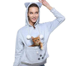 Load image into Gallery viewer, Cat Eared Pouch Sweatshirt