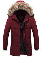 Load image into Gallery viewer, Imitation Fur Hooded Winter Men's Coat