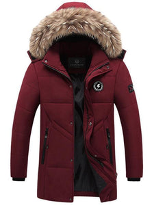 Imitation Fur Hooded Winter Men's Coat