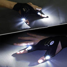 Load image into Gallery viewer, LED Flashlight Fingerless Gloves