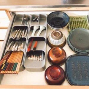 (Black Friday Promotion)-DrawerStore Compact Cutlery Organizer