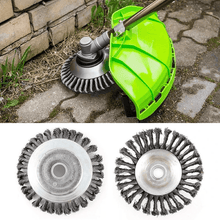 Load image into Gallery viewer, Garden Weed Brush Lawn Mower ,Round Steel Wire Brush Cutter Head