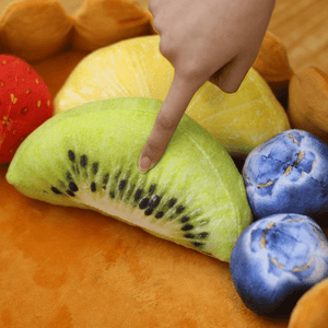 Fruit Tart Cat Bed With 5 Fruit Cushions