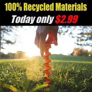 ¡¾HOT SALE ¡¿Today only $2.99 !!!! Orange Screw Ground Anchors