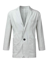 Load image into Gallery viewer, Leisure Solid Linen-blend Suit Coat