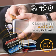 Load image into Gallery viewer, Aluminum RFID Blocking Security Wallet