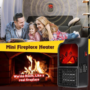 Remote Control Mini Fireplace Heater