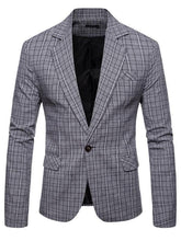 Load image into Gallery viewer, Long Sleeve Leisure Plaid Blazer