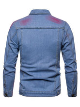 Load image into Gallery viewer, Denim Jacket Personality Casual Splash Men's Jacket