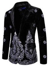 Load image into Gallery viewer, Embroidered Imitation Velvet Men's Leisure Blazer