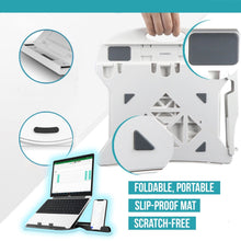 Load image into Gallery viewer, 2 in 1 Adjustable Folding Laptop and Phone Cooling Table Stand
