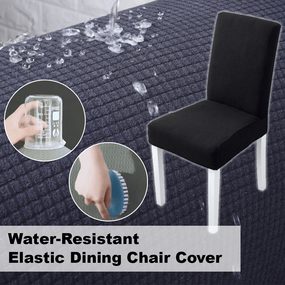 Water-Resistant Elastic Dining Chair Cover