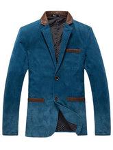 Load image into Gallery viewer, Color-block Lapel Two Buttons Leisure Blazer