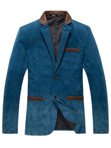 Color-block Lapel Two Buttons Leisure Blazer