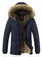 Load image into Gallery viewer, Imitation Fur Hooded Plush Lining Winter Coat
