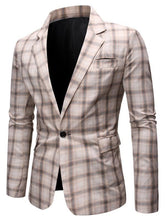 Load image into Gallery viewer, Casual Plaid Vintage Style Men's Blazer