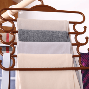 Multi-Purpose Five-Layers Magic Pants Rack
