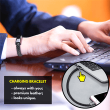 Load image into Gallery viewer, On-the-Go USB Charging Bracelet