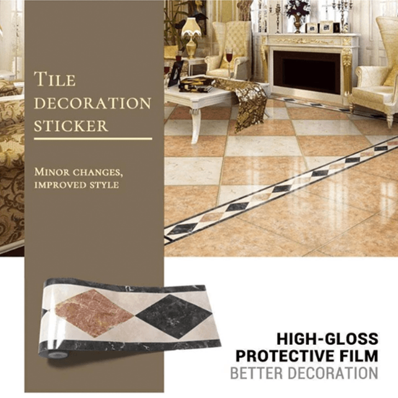 Water Resistant Marble Styled Tiles Sticker