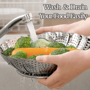 Stainless Steel Retractable Steamer Basket