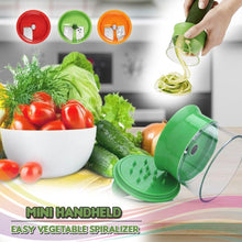 Load image into Gallery viewer, Mini Handheld Easy Vegetable Spiralizer