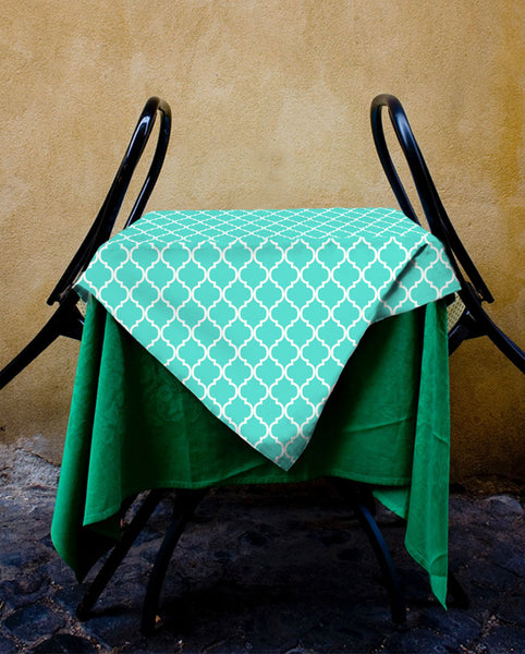 Teal Moroccan Tablecloth