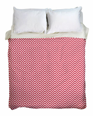 Retro Ruby Duvet Cover