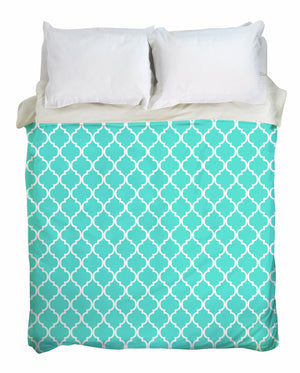 Teal Moroccan Duvet Cover