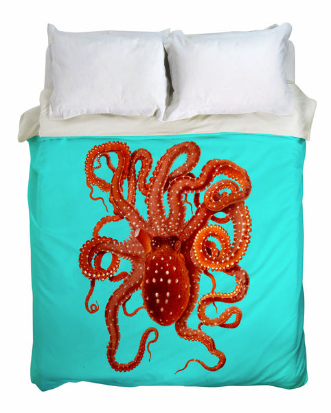 Killer Octopus Duvet Cover