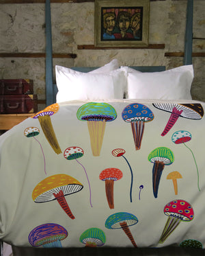 Magic Mushrooms Duvet Cover