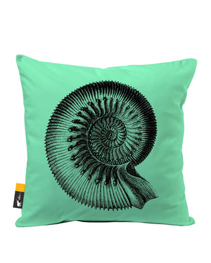 Ammonite Faux Suede Throw Pillow