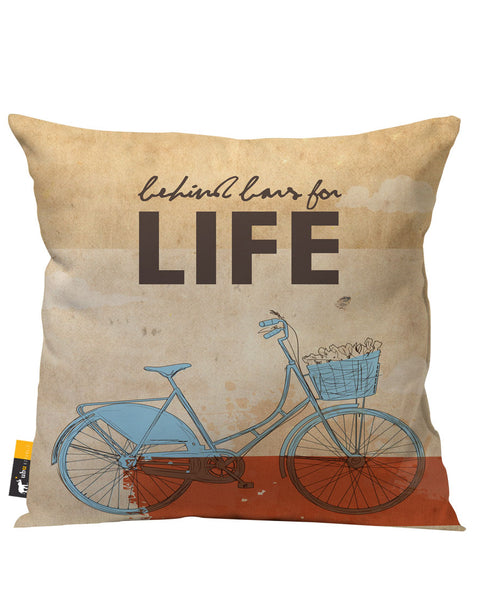 Behind Bars For Life Outdoor Throw Pillow
