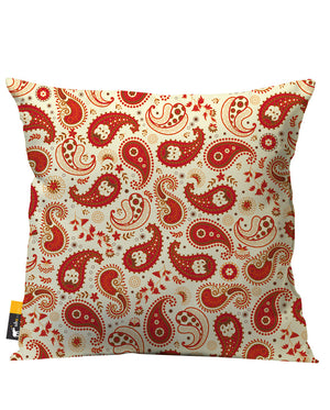 Chili Paisley Outdoor Throw Pillow