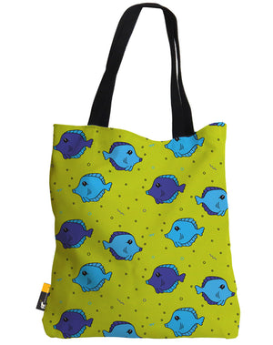 The Fish Tank Green Tote