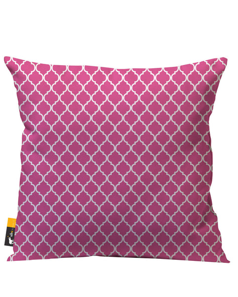 Coral Moroccan Outdoor Throw Pillow