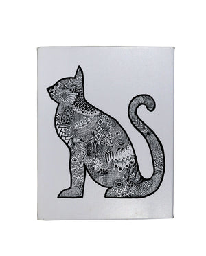 Black Cat Gallery Art Canvas