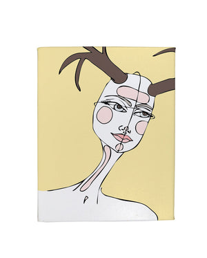 She Wore Antlers Gallery Art Canvas