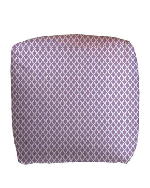 Imperial Lavender Cube Ottoman