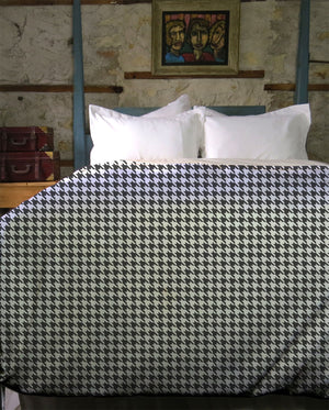 Retro Houndstooth Duvet Cover