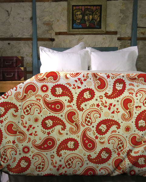 Chili Paisley Duvet Cover