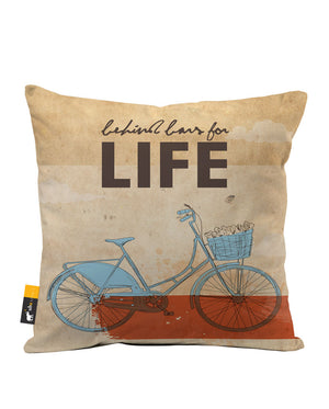 Behind Bars For Life Faux Suede Throw Pillow