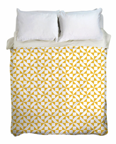 Geometric Retrochip Duvet Cover