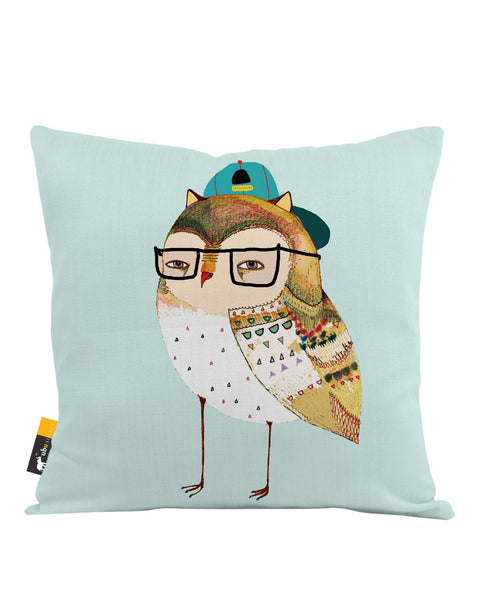 Hipster Owl Throw Pillow