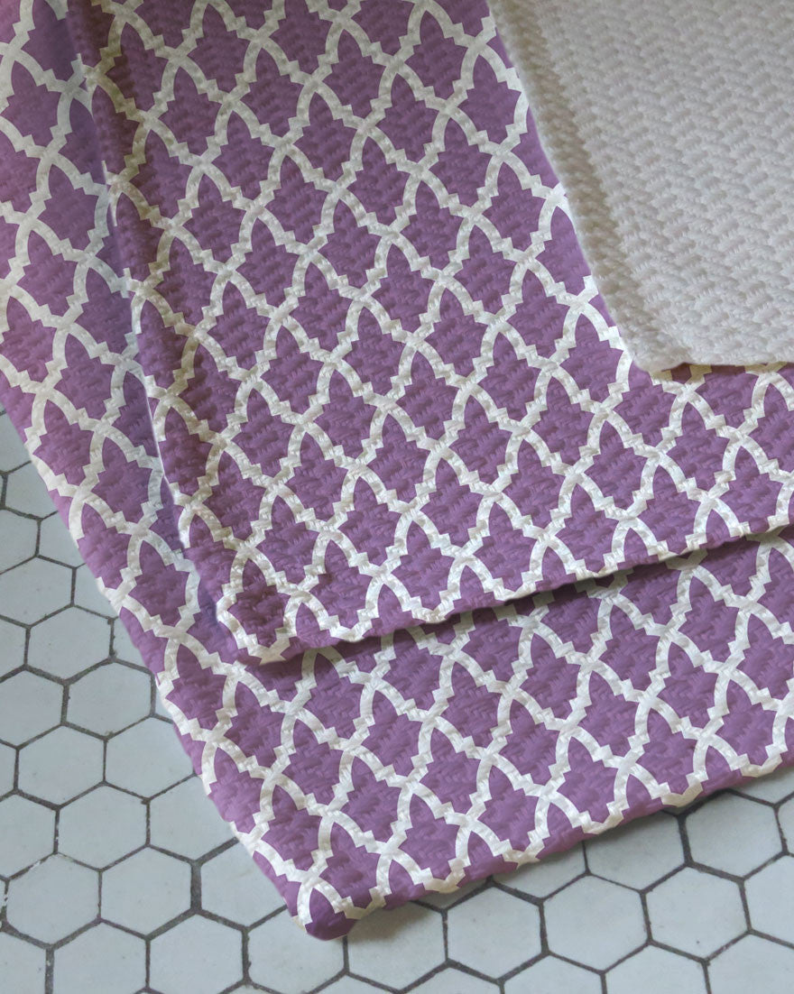 Imperial Lavender Woven Bath Rug