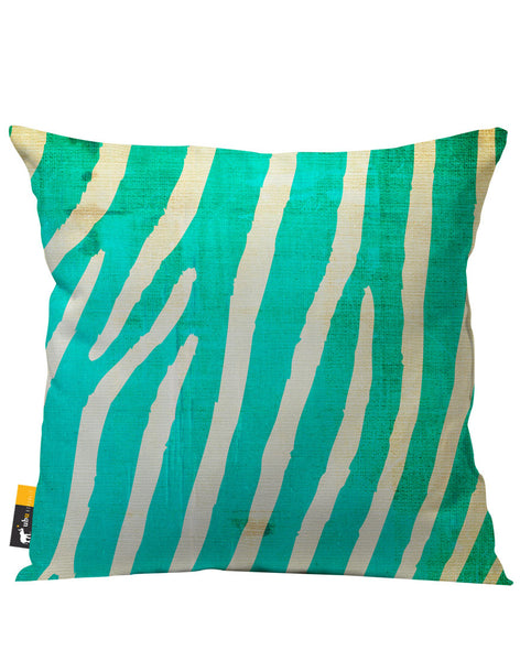 Indigo Zebra Outdoor Throw Pillow